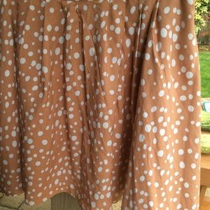 Forever 21 essentials polka dot skirt  peachy tone